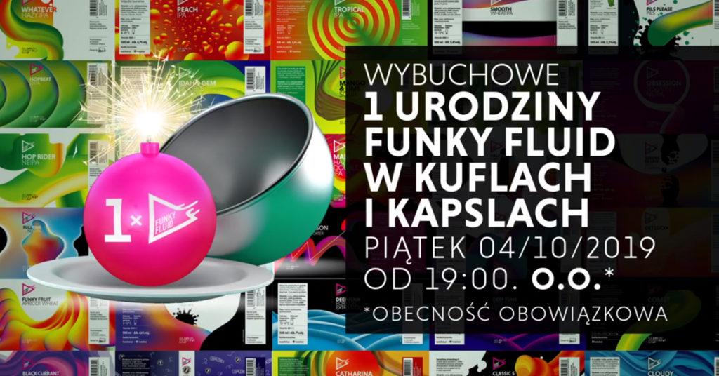 Funky Fluid w Kufle i Kapsle craft beer pub Warsaw, Warszawa, piwo kraftowe, piwo rzemieślnicze